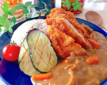 雑穀米チキンカツカレー