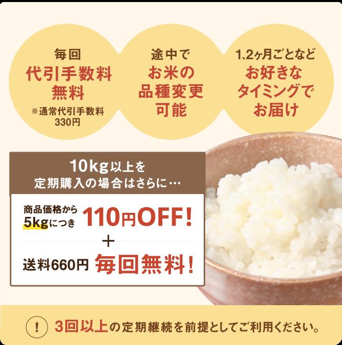 お米の定期購入のメリット