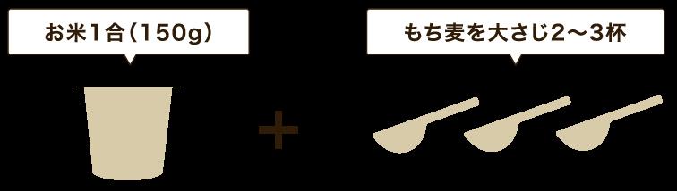 基本的なもち麦の炊き方